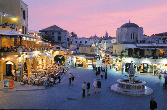 Rhodes, Greece   What a wonderful place! The Old Town is amazing. My friends live on the island. Best place to visit in the summer.