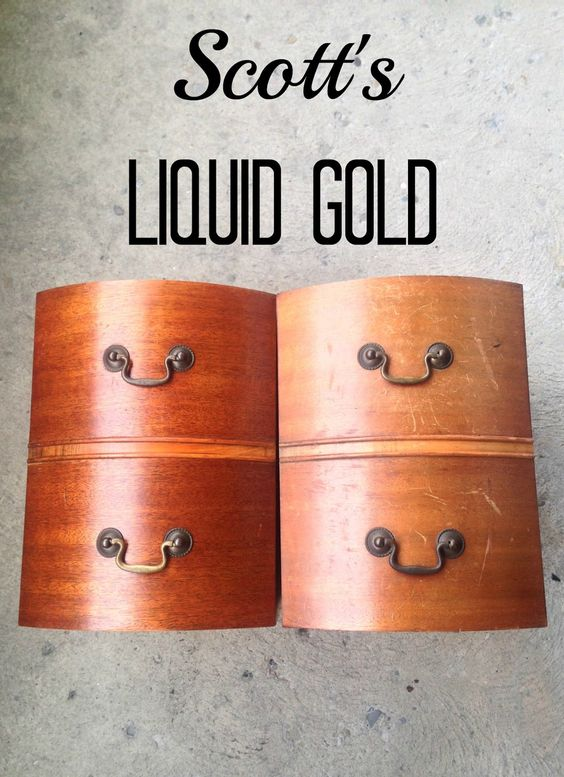 amazing results using Scotts liquid gold to restore old wood