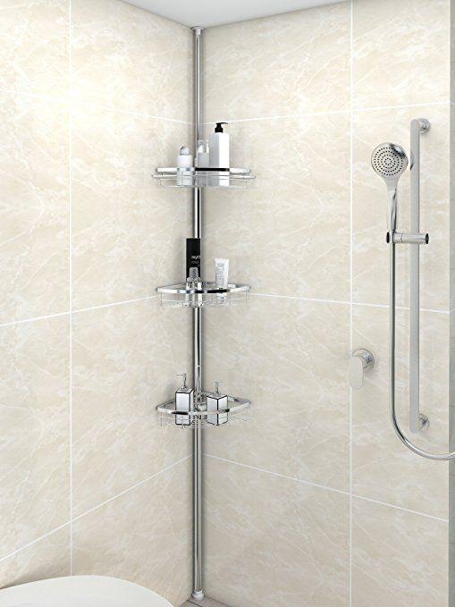 Lifewit Corner Shower Caddy 3 Tier Adjustable Bathroom Constant
