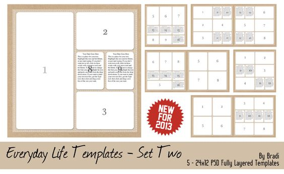 Photo Collage Templates Are Ready For Easy Printing And Framing