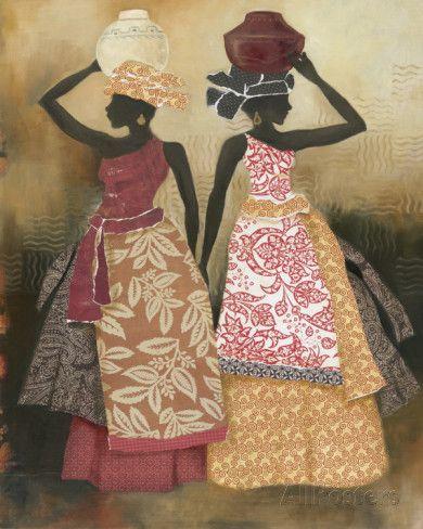 Village Women II Lámina