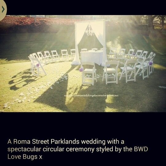 Brisbane Wedding Decorators Stunning Circular Ceremony Such An Intimate Setting For A Heartfelt Brisbaneweddingdecorators