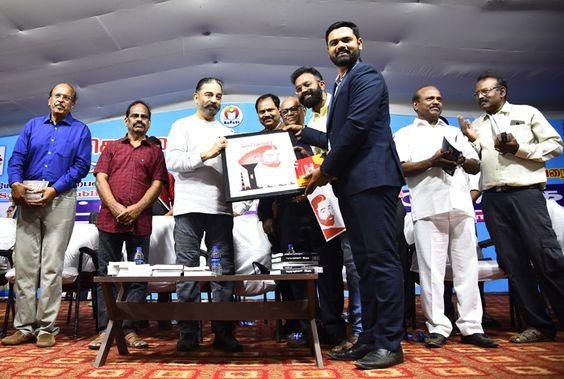"""Author Prraveen Khumar N launches his latest book – """"Battle For Power"""" at Chennai Book Fair by Padma Shri Kamal Haasan"""