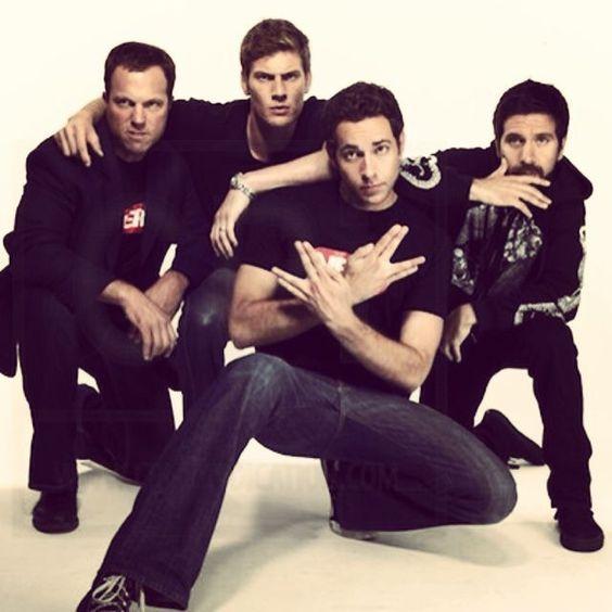 Nerd ❤️ ~ Zachary Levi Adam Baldwin, Ryan McPartlin, Zachary Levi, and Joshua Gomez.
