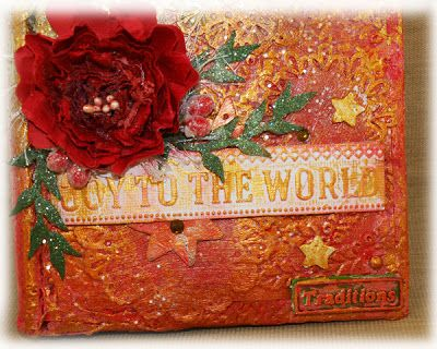 Mixed Media Book Cover by Sue Smyth - Couture Creations