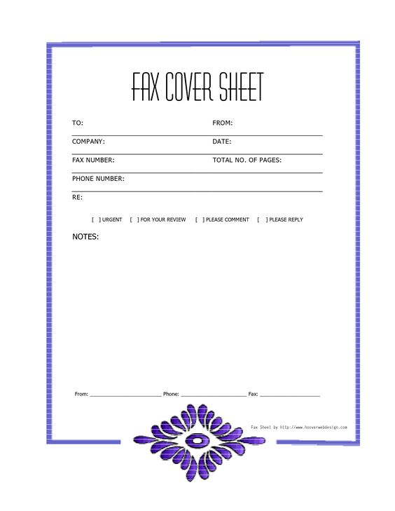 Free Cover Fax Sheet For Microsoft Office, Google Docs, \ Adobe - cover sheet template word