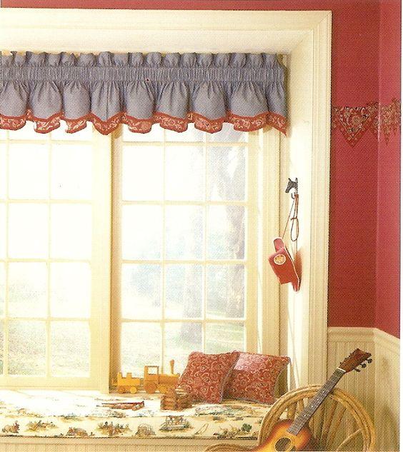 Country Kitchen Ramona: Valance Curtains, Blue Denim And Valances On Pinterest