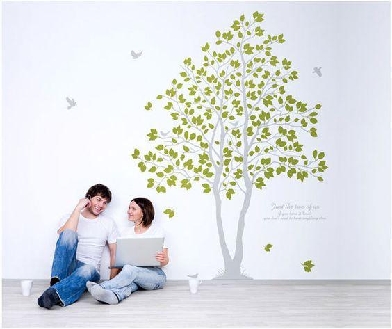 Tree Bird Flower Kids Wall Art