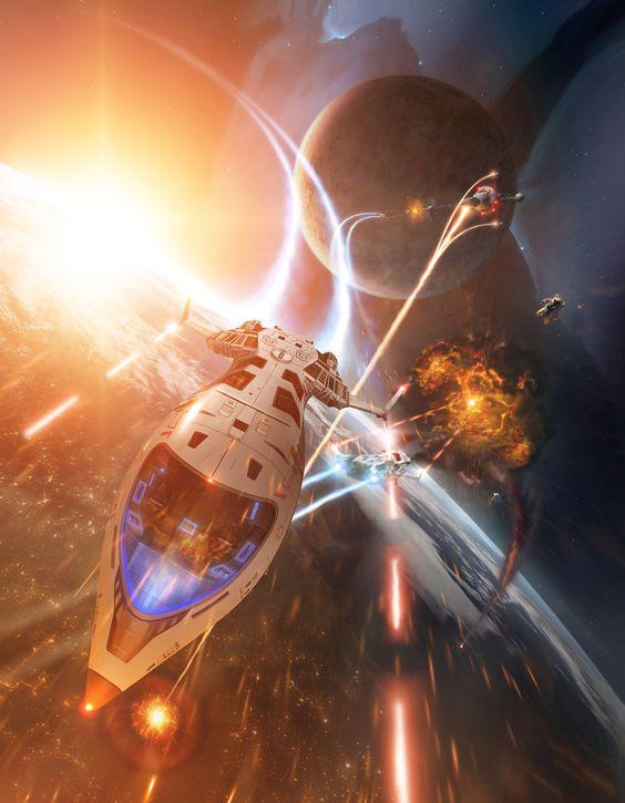 Orbital Fightby `taenaron  (a tutorial for Advanced Photoshop magazine Issue 94)