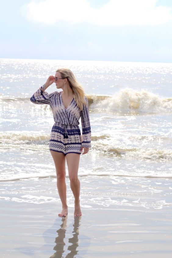 Long Sleeve Romper by Cypress & 5th
