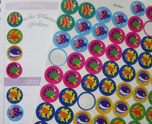 Fish Planner Stickers, Erin Condren Life Planner, mini stickers, fish stickers, Planner stickers, Planner Decoration, Mini Stickers, planner by StickerSheets