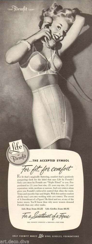 1940s  LIFE Formfit Girdle, say hello to comfort