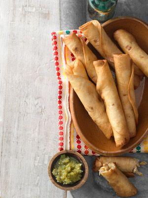 Chicken Flautas (5 Ingredient Recipes)