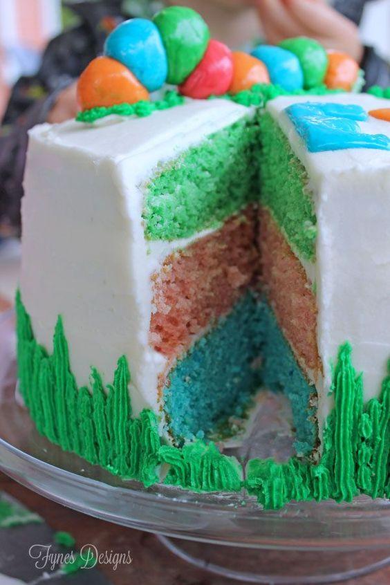Jello Flavored Rainbow Layer Cake