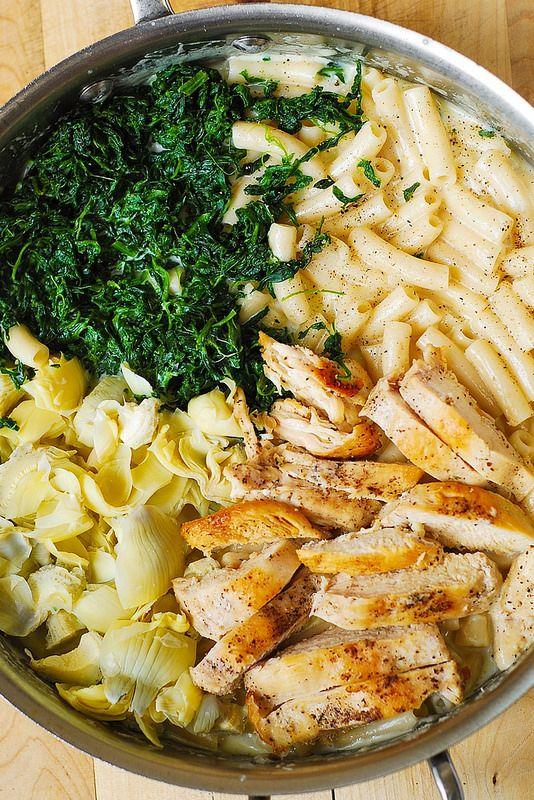 Spinach and Artichoke Chicken Pasta