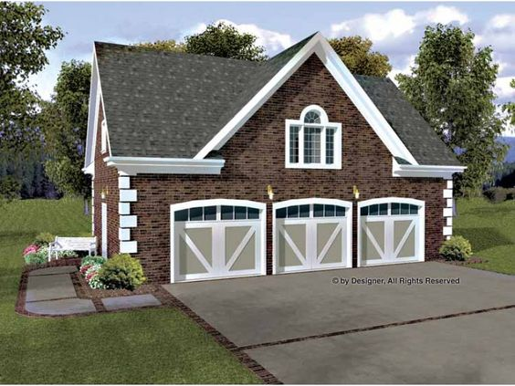 3 car garage with 750 of living space above it for Garage designs with living space above