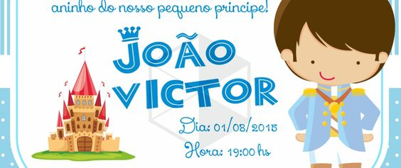 Convite de Aniversário Infantil Príncipe - Bruno Di Souza