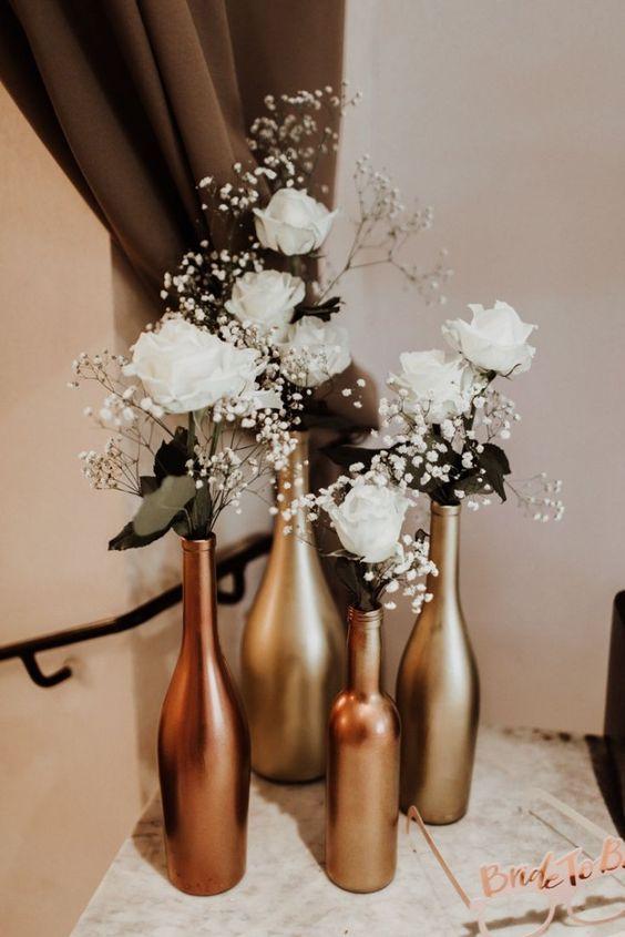 Decoração de casamento minimalista para uma celebração autêntica