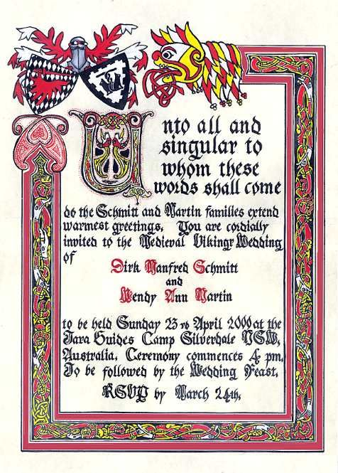 Medieval Wedding Invitations Wording Google Search Wedding - Birthday invitation in germany