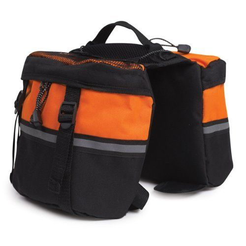 Zack  Zoey Pet Day Tripper with Storage Pouches, Medium, Orange $21.99