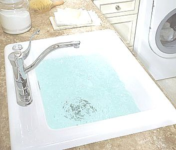 laundry room sink with jets