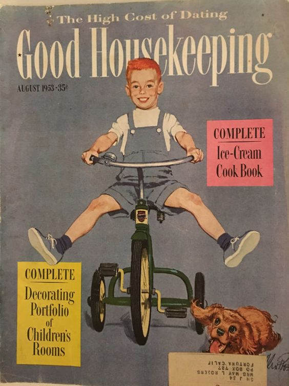 Vintage Magazine Good Housekeeping August 1953 by papermoonandmore
