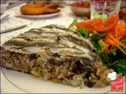 Hamsili Pilav, Arroz con anchoas, Turquía