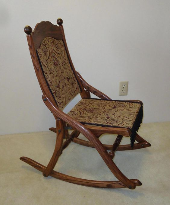 civil war folding rocking chair rocking chairs war and etsy. Black Bedroom Furniture Sets. Home Design Ideas