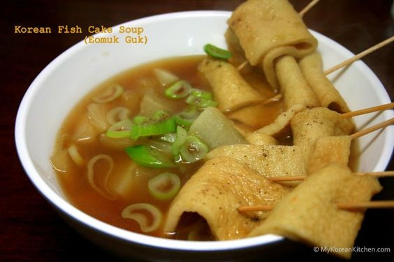 Fish soups and cakes on pinterest for Korean fish cake recipe