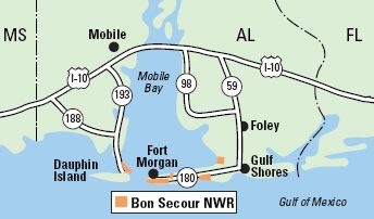 Bon Secour National Wildlife Refuge --Vicinity Map