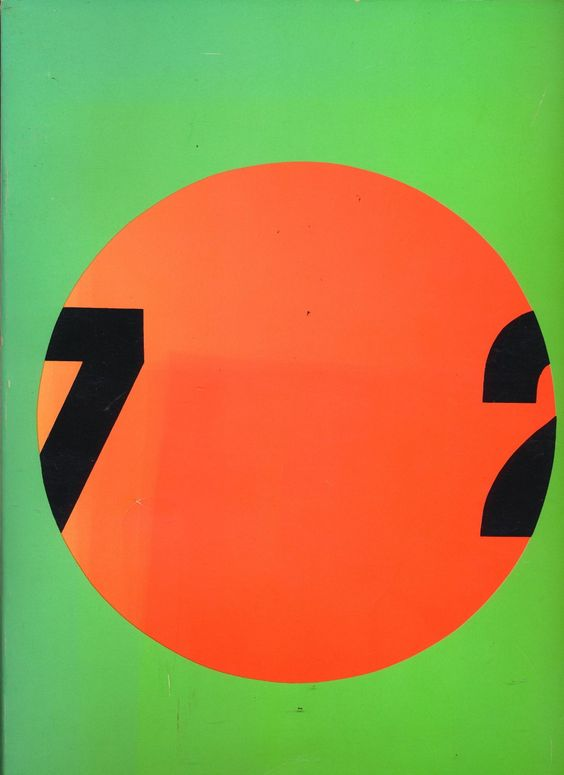 Douze Ans d'Art Contemporain en France (1972).Design by Roman Cieslewicz. Found here.