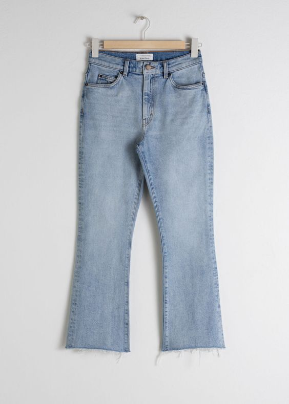 Kick Flare High Rise Jeans - Light Blue - Jeans - & Other Stories