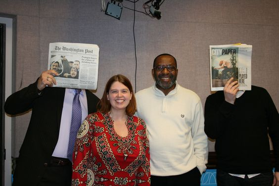 Tom Sietsema of The Washington Post, Missy Frederick of the Washington Business Journal, Kojo and Chris Shott of the Washington City Paper in studio.