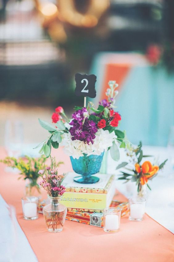 Love this eclectic wedding table inspiration!