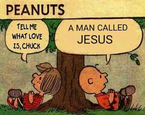"""- """"Dime qué es el amor, Chuck. - Un hombre llamado Jesús."""