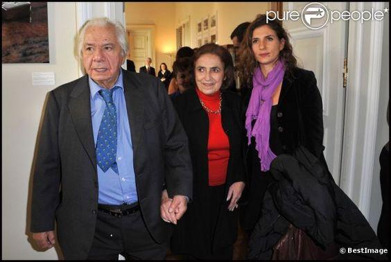 Michel Galabru, sa femme Claude et sa fille Emmanuelle à Paris le 6 février 2012 à Paris