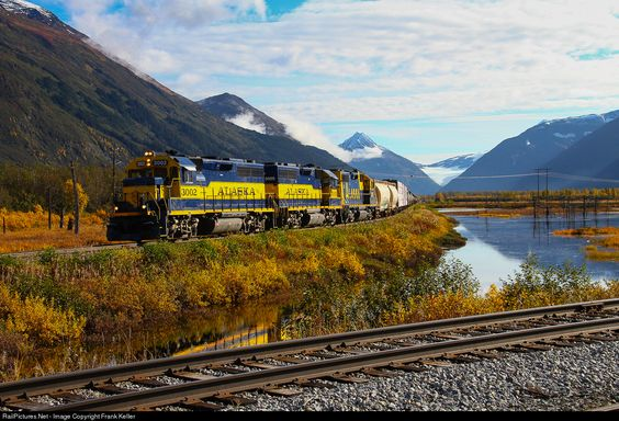 RailPictures.Net Photo: ARR 3002 Alaska Railroad EMD GP40-2 at Portage, Alaska by Frank Keller