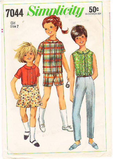 Vintage Pattern Simplicity 7044 Girls' Pants in Two Length… | Flickr