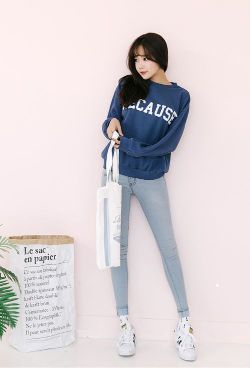 [11Street] Jiggygen Light Wash Skinny Jeans