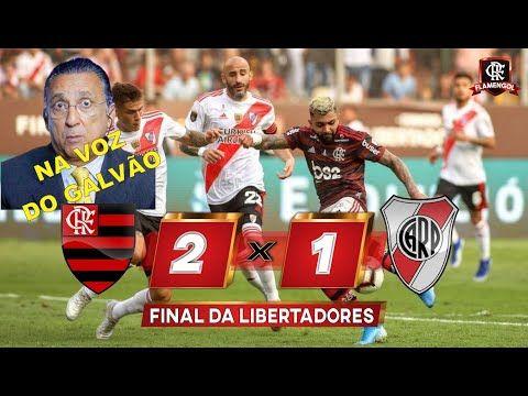 Melhores Momentos Na Voz Do Galvao Bueno Flamengo 2 X 1 River Plate Final Da Libertadores 2019 Youtube Galvao Bueno 1 Plate