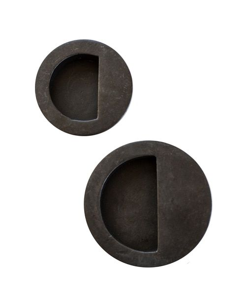 Solid Bronze Round Flush Sliding Barn Door Handle Barn Door Handles Door Handles Sliding Door Handles