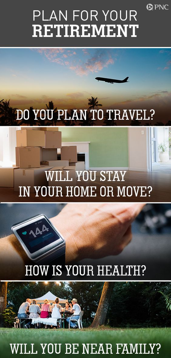 Try the PNC Retirement Lifestyle Planner to see how different scenarios, such as moving to a new home, traveling, or addressing healthcare costs, may impact your retirement budget needs. Start planning for your future on PNC.com.