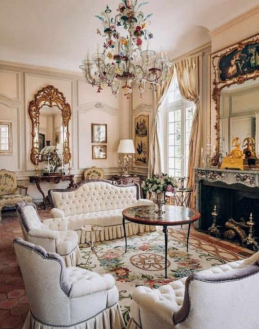 Decorating French Style With Louis Xv Console Tables Victorian Home Decor Victorian Living Room Country Living Room Design