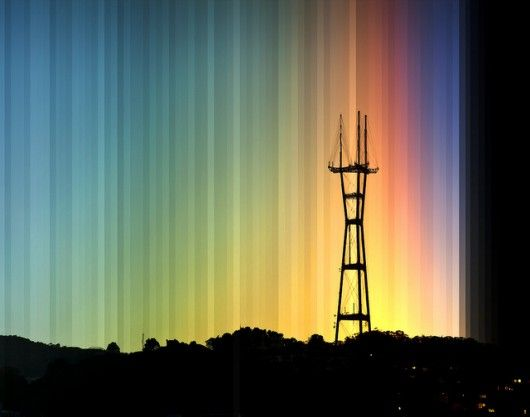 sutro tower sunset time lapse