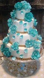 Turquoise WEDDING CAKE Reference For Wedding Decoration