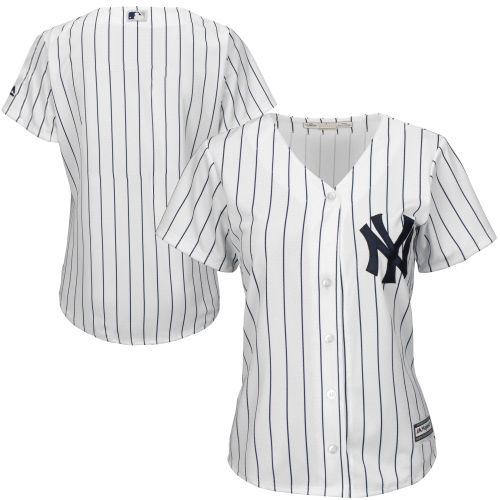 New York Yankees Majestic Women 39 S Plus Size Cool Base Jersey White From Majestic Brand Jersey New York Yankees Apparel Yankees Outfit New York Yankees
