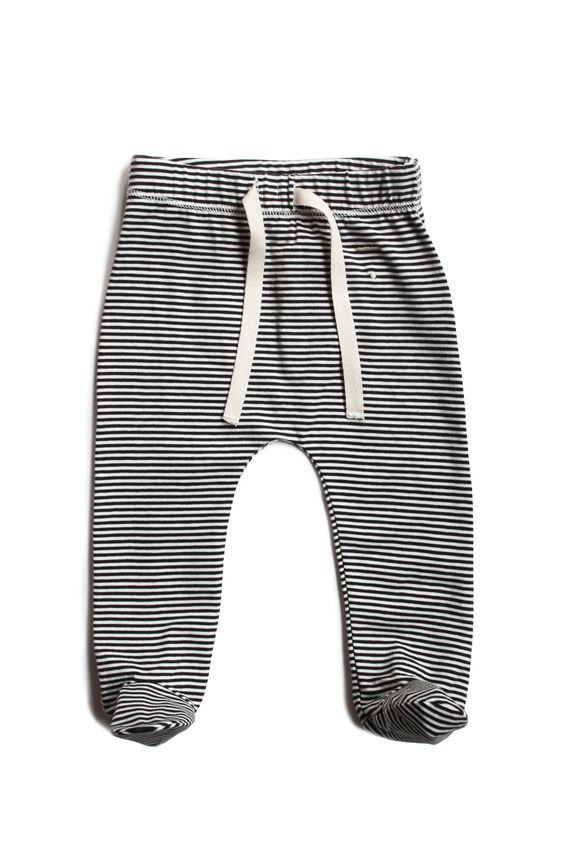 Gray Label Footies | Nearly Black/Cream