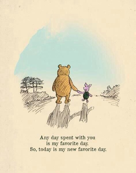 """Any day spent with you is my favorite day. So today is my new favorite day."" #Lovequotes"