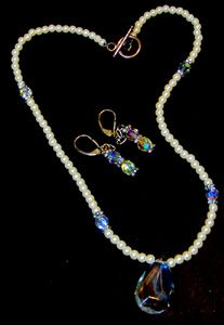 Bridal Briolette Swarovski Necklace Earrings @lindab142