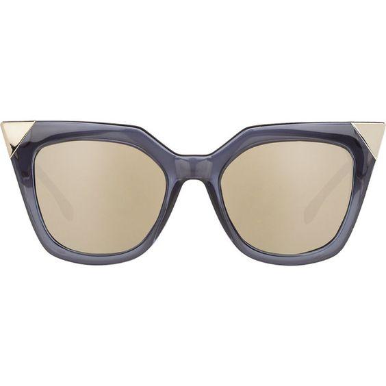 Fendi Women's Iridia Sunglasses ($465) ❤ liked on Polyvore featuring accessories, eyewear, sunglasses, очки, colorless, tortoise sunglasses, tortoise cat eye sunglasses, oversized cateye sunglasses, tortoiseshell sunglasses and cat eye sunglasses